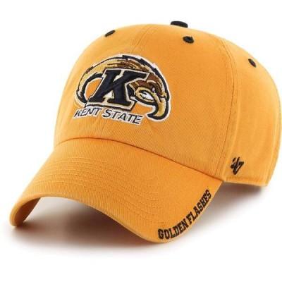フォーティーセブン メンズ 帽子 アクセサリー '47 Men's Kent State Golden Flashes Gold Ice Clean Up Adjustable Hat