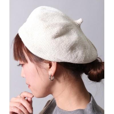 BAYBLO / 【ユニセックス】トップ ギャザー ナチュラル ベレー帽(CR) WOMEN 帽子 > ハンチング/ベレー帽