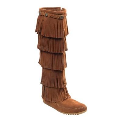 ミネトンカ スニーカー シューズ レディース 5 Layer Fringe Boot (Women's) Brown Suede