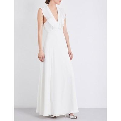 ホイッスルズ WHISTLES レディース パーティードレス ウェディングドレス ワンピース・ドレス Eve ruffled silk wedding dress White