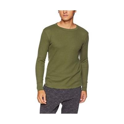 [ヘインズ] (旧モデル) Tシャツ サーマル 長袖 クルーネック HM4-G501 メンズ カーキ 日本 M (日本サイズM相当)