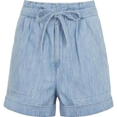 イザベル マラン Isabel Marant Etoile レディース ショートパンツ デニム ボトムス・パンツ marius light blue belted denim shorts Blue