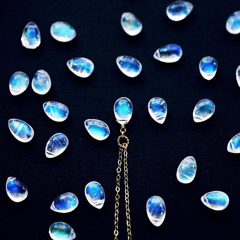 一抹藍月 頂級月光石 溫柔療癒 空靈感 14K項鍊   客製 快速出貨