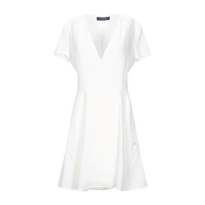トラサルディ ジーンズ TRUSSARDI JEANS ミニワンピース&ドレス ホワイト 48 ポリエステル 100% ミニワンピース&ドレス