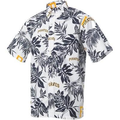 レインスプーナー メンズ シャツ トップス Reyn Spooner Men's Pittsburgh Pirates White Aloha Button-Down Shirt