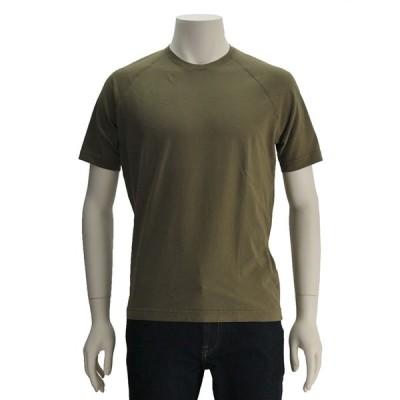 アスペジ ASPESI 国内正規品 メンズ 半袖Tシャツ オリーブグリーン ラグランショルダー コットン100% クルーネックカットソー Men's ティーシャツ