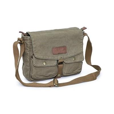 並行輸入品◆【輸入品】Gootium Canvas Messenger Bag - Vintage Crossbody Shoulder Bag Military Satchel, Olive Brown