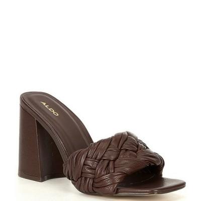 アルド レディース サンダル シューズ Blakely Woven Leather Square Toe Dress Mules
