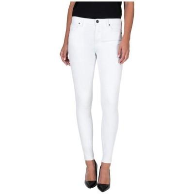 カットフロムザクロス レディース デニムパンツ ボトムス Mia High-Rise Toothpick Skinny Jeans in Optic White