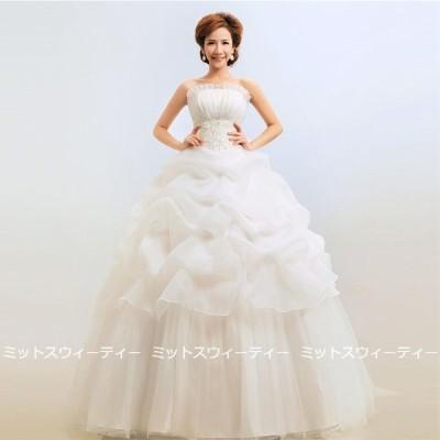 ウエディングドレス ホワイト レッド シャンパン 二次会 プリンセスライン 格安 大きいサイズ 結婚式 ウェディングドレス 花嫁ドレス ロングドレス イベント