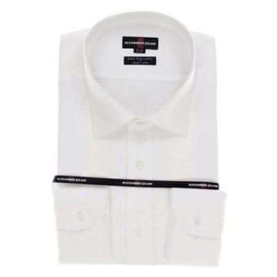 【大きいサイズ】アレキサンダージュリアン/ALEXANDER JULIAN 綿100% 形態安定ワイドカラー長袖ビジネスドレスシャツ/ワイシャツ