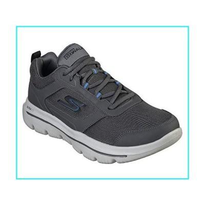 Skechers Men's GO Walk Evolution Ultra-Enhance Sneaker, Charcoal/Blue, 8.5 M US
