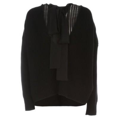 サカイ セーター カーディガン レディースSacai Fabric Combo Pullover L/s W/scarfBlack