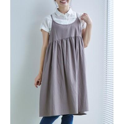 綿100%ふんわりギャザージャンパースカート (ジャンスカ)Skirts