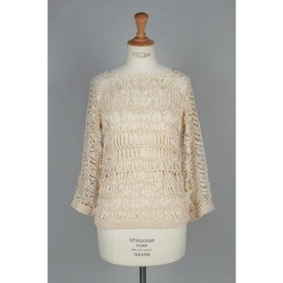 トゥデイフル Todayful / Crochet Loose Knit -BEIGE(11710531)