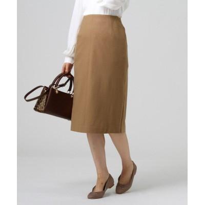 UNTITLED essential clue(アンタイトル エッセンシャルクルー) ミルドウールジャージサイドスリットタイトスカート