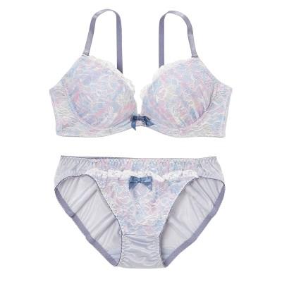 マーブルプリントブラジャー・ショーツセット(C65/M) (ブラジャー&ショーツセット)Bras & Panties