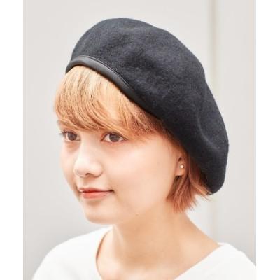 cepo / レザーパイピングベレー WOMEN 帽子 > ハンチング/ベレー帽