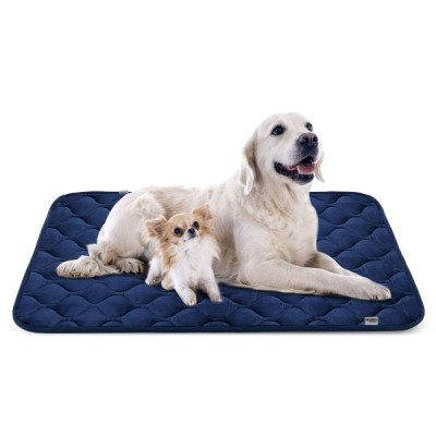 Hero Dog ペットマット 犬 ペットベッド 犬ケージ用敷物 滑り止め 洗える 肌触りよい 柔らかい 4カラー6サイズ(ブルー