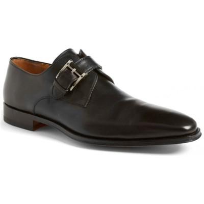 マグナーニ MAGNANNI メンズ 革靴・ビジネスシューズ シューズ・靴 Marco Plain Toe Monk Shoe Black Leather