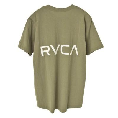 RVCA ルーカ BACK TAIL RVCA SS バック ロゴ プリント Tシャツ BA041-221 大きめ ビッグ オーバー サイズ シルエット デカ ロゴ Tシャツ メンズ ユニセックス