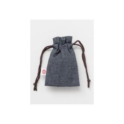 【岩座】巾着袋 シャンブレ グレー
