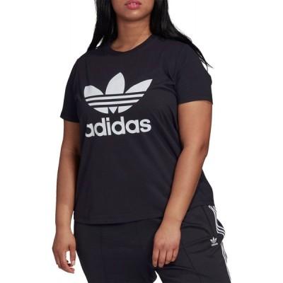 アディダス adidas レディース Tシャツ トップス Boyfriend Trefoil T-Shirt Black
