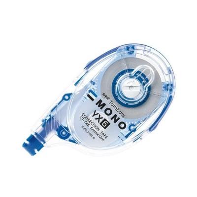 トンボ鉛筆 修正テープ モノYX6 本体 6mm幅×12m 青 1個