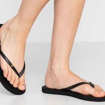 ロキシー レディース 靴 シューズ SANDY - Pool shoes - black/multicolor