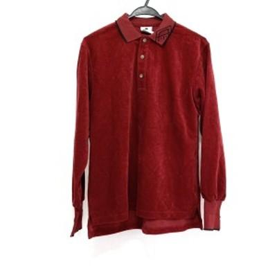 ピッコーネ PICONE 長袖ポロシャツ サイズ38 S レディース 美品 - レッド×黒 パイル【中古】20210625