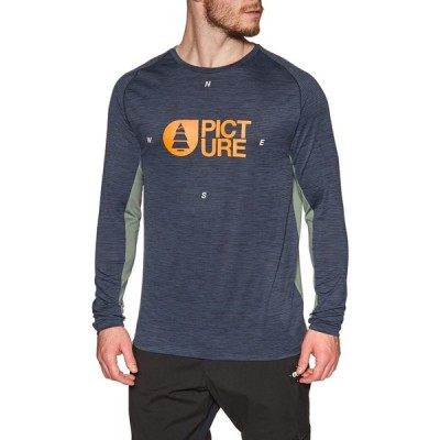 ピクチャー オーガニック Picture Organic メンズ 長袖Tシャツ トップス foxer tech long sleeve t-shirt Dark Blue