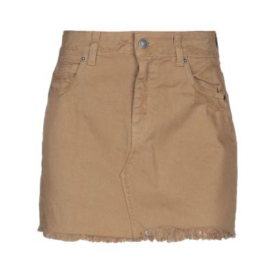 VICOLO デニムスカート キャメル XS コットン 100% デニムスカート
