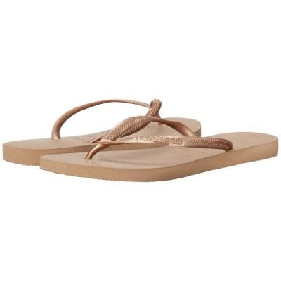 ハワイアナス Havaianas レディース ビーチサンダル シューズ・靴 Slim Flip Flops Rose Gold