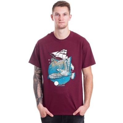 インペリコン Impericon メンズ Tシャツ トップス - Odyssey Maroon - T-Shirt burgundy