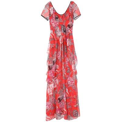 テンパリー・ロンドン TEMPERLEY LONDON ロングワンピース&ドレス レッド 12 ポリエステル 100% ロングワンピース&ドレス