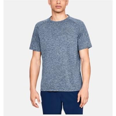 アンダーアーマー メンズスポーツウェア 半袖機能Tシャツ UA TECH 2.0 SS TEE 1358553 409 ACADEMY/STEEL