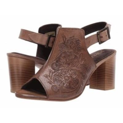Roper ローパー レディース 女性用 シューズ 靴 ヒール Mika Beige Floral Tooled Leather【送料無料】