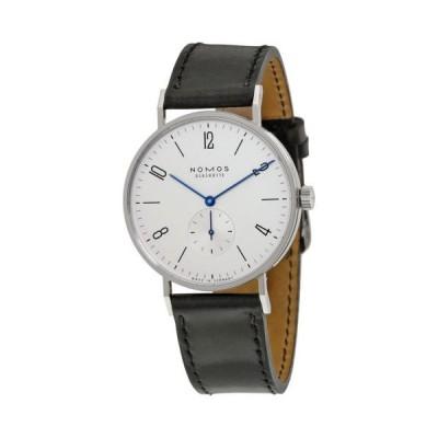 腕時計 ノモス Nomos Tangente 38 Galvanized ホワイト シルバー-プレート ダイヤル メンズ 腕時計 164