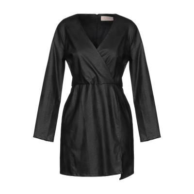 KAOS JEANS ミニワンピース&ドレス ブラック 38 ポリウレタン 50% / レーヨン 50% ミニワンピース&ドレス