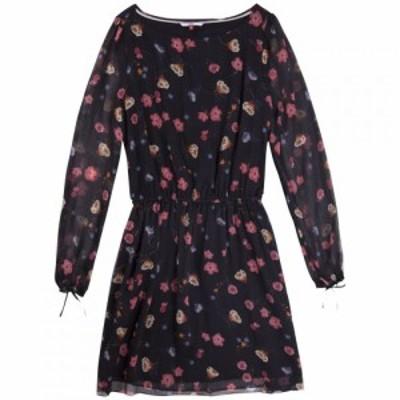 トミー ジーンズ Tommy Jeans レディース ワンピース ワンピース・ドレス Printed Dress Black