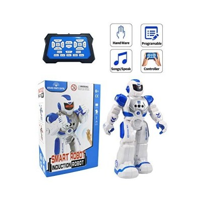 non Cargooy Best Gift for Kids ,Intelligent Programmable RC Robot with Infrared Controller Toys,Dancing,Singing, Moonwalking and LED Eyes,Gesture Sens
