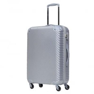 スーツケースABS7352(チルト)Mサイズ シルバーグレー