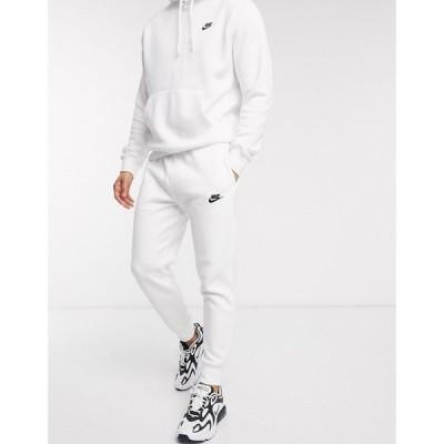 ナイキ Nike メンズ ジョガーパンツ ボトムス・パンツ Club Cuffed Joggers In White ホワイト