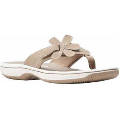 クラークス レディース サンダル シューズ Women's Clarks Brinkley Flora Thong Sandal Taupe Synthetic