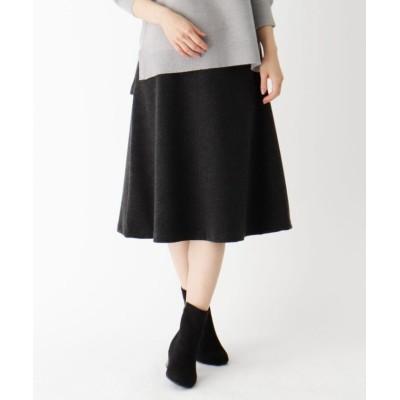 【スープ】 ストレッチポンチAラインスカート レディース チャコール グレー 11(L) SOUP