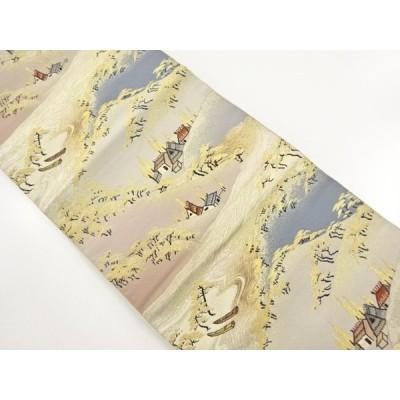 宗sou 山里風景模様織り出し袋帯【リサイクル】【着】