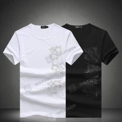 春夏大きいサイズプリント Tシャツ 個性おしゃれ ストリート花柄 カジュアル 和柄半袖 Tシャツ ワイルド系 お兄系Tシャツ 細身 きれいめ