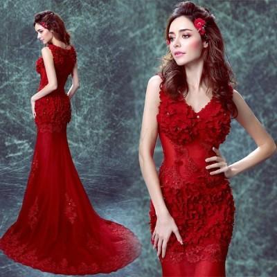 新作 ロングドレス 結婚式 大きいサイズ パーティードレス 20代 30代 40代 パーティドレス ワンピース 二次会 ドレス ウェディングドレス お呼ばれ ドレス
