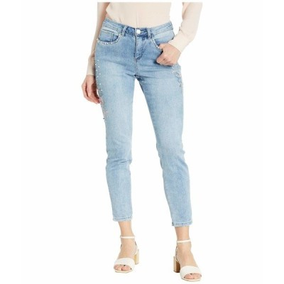 FDJフレンチドレッシングジーンズ デニム ボトムス レディース Statement Denim Embroidered Flowers with Pearls Olivia Slim Ankle in Cool Blue Cool Blue
