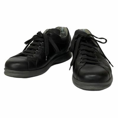 Salvatore Ferragamo フェラガモ 靴 シューズ スニーカー レザー ブラック [サイズ 6 1/2 (約25.5cm)]